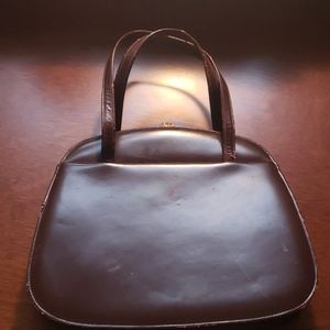 Vintage brown leather Dofan handbag